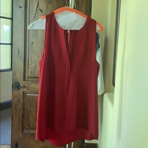Joie sleeves less top in a beautiful cranberry